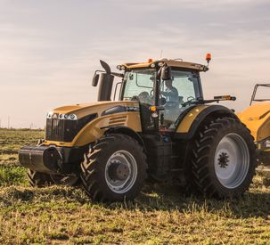 Challenger MT600E Series tractor baling v1
