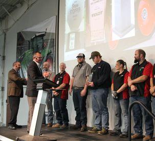 Bob Crain Presents Assembly Plant of Year Award to AGCO Jackson Operations
