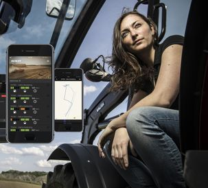 Valtra Connect transmits tractor data to smart phones and computers, for both the customer and after-sales service