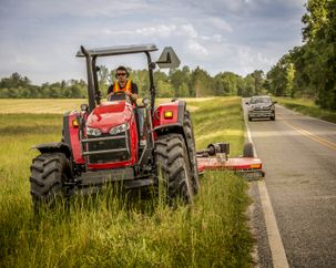 Massey Ferguson roadside mowing