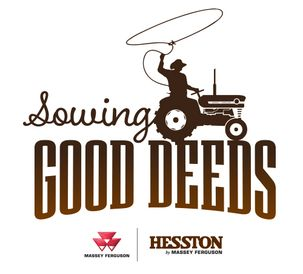 AGCO Hesston Sowing Good Deeds logo
