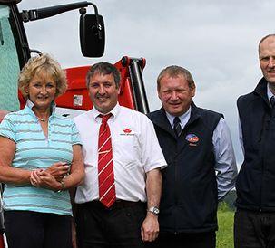 Massey Ferguson South Pole tractor prize arrives at Dumfries farm