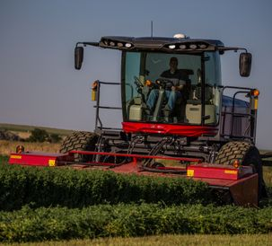 Hesston by Massey Ferguson WR9900 Self Propelled Windrower Alfalfa Idaho 2019 AE50