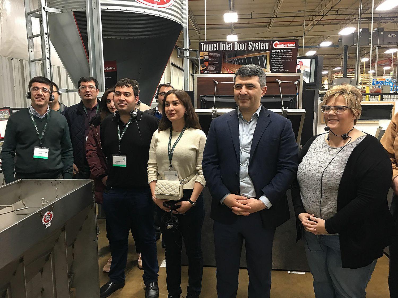 Azerbaijani Delegation Tours AGCO Illinois Facilities