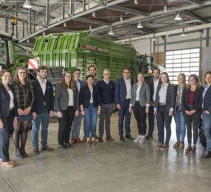 DLG trainees visit Fendt