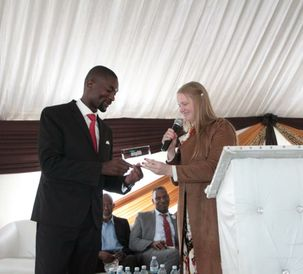 Dr. Bahle Zondo President-Bahle Zondo Foundation accepting the AAF Awa...