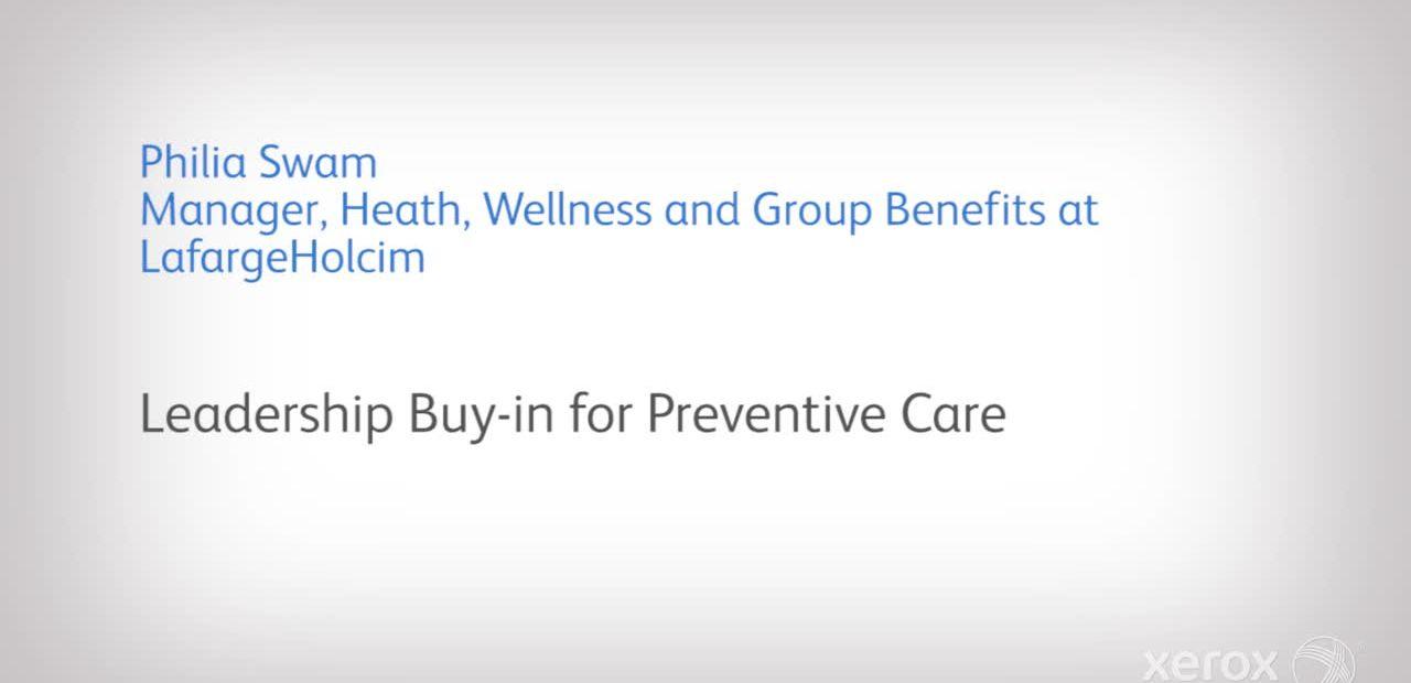 Leadership Buy in for Preventive Care