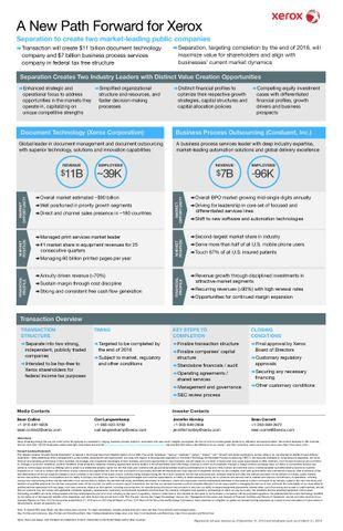Factsheet: New Path Forward for Xerox