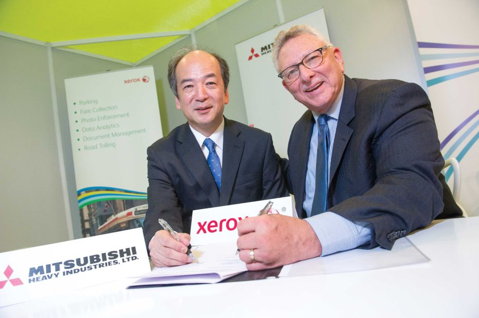 Xerox and Mitsubishi Heavy Industries Signing on ITS opportunities