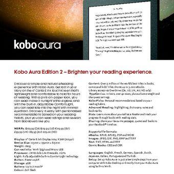Kobo Aura Editon 2