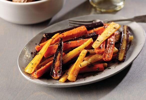 OmahaSteaks_glazed rainbow carrots