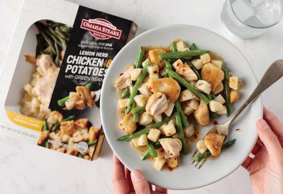 omahasteaks_lemon herb chicken with potatoes _ green beans_pkg