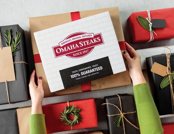 """""""Get Your Shopping Done Early"""" Says Omaha Steaks, in Response to a Recent Holiday Survey"""