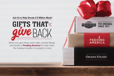 Omaha Steaks Launches Campaign to Help Provide 2.5 Million Meals for Feeding America® to Help Families in Need this Holiday Season