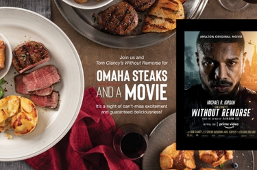 Dinner and a Movie: Omaha Steaks teams with Amazon Prime Video on Tom Clancy's Without Remorse for an action-packed night at home