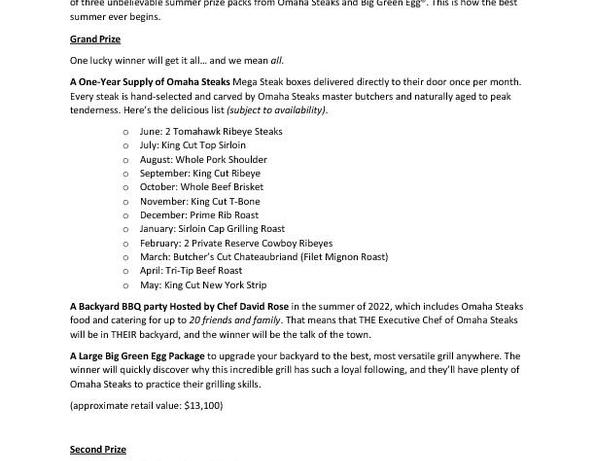 BGE Summer Grilling Sweepsteaks Prizes_final