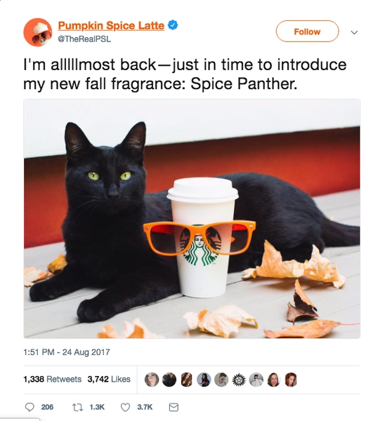 Starbucks' Pumpkin Spice Latte Uses Social Media to Generate Brand Awareness