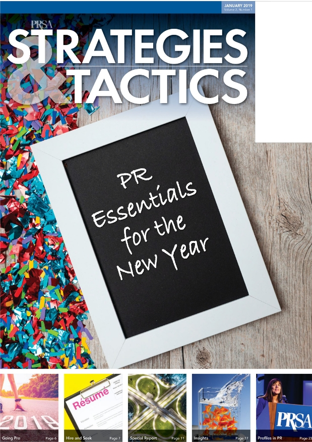 January 2019: PR Essentials for the New Year