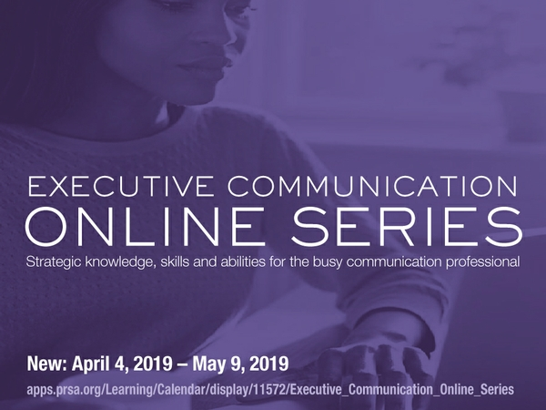 PRSA Launches New Executive Communication Online Series