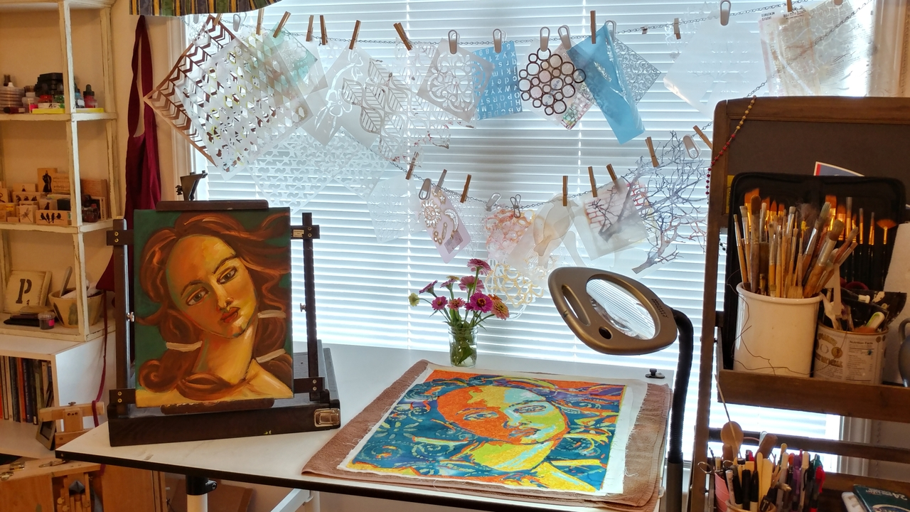 Therapist uses paintings to inspire patients to find fulfillment