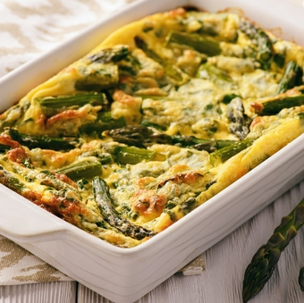 Delicious egg and asparagus frittata