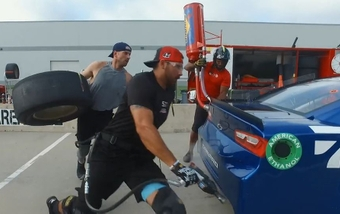 NASCAR pit crews are made up of athletes --being in top shape is part of the job