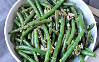 Zesty and healthy green beans for Thanksgiving