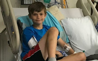 After brain tumor removal, this 10-year-old is back to baseball