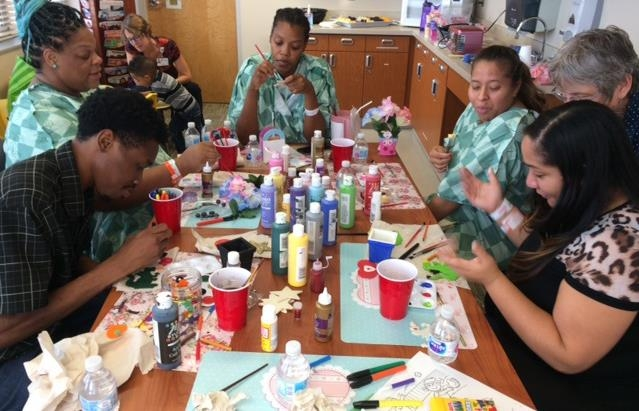 Bedridden, expectant moms find solace in arts class