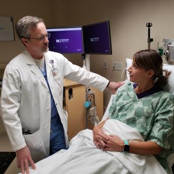 Dr. Lewis Lipscomb in the OB-ED at Novant Health Forsyth Medical Center
