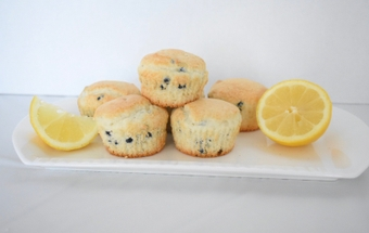 Lemon blueberry muffins bring the protein ... and the taste