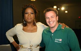 Larry Rehrig with Oprah Winfrey