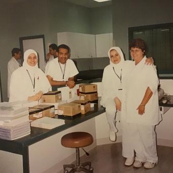 Gloria Poole and teammates
