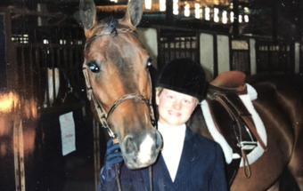 Tiffany Martin with her childhood horse
