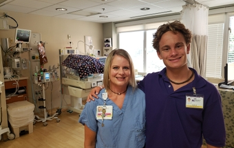 Kadin Martin is thinking about following his parents into the medical field