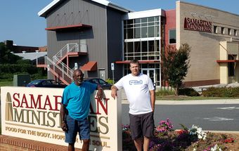 Mark Ward left and David Loman have turned their lives around at Samaritan Ministries