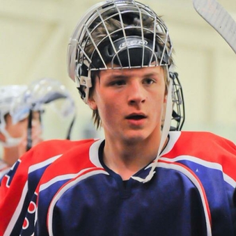 Cody Oakes on ice