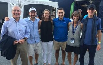 Keshian family at the Winston-Salem Open