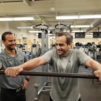 Jason Oraker with trainer Matt Fortune - feature