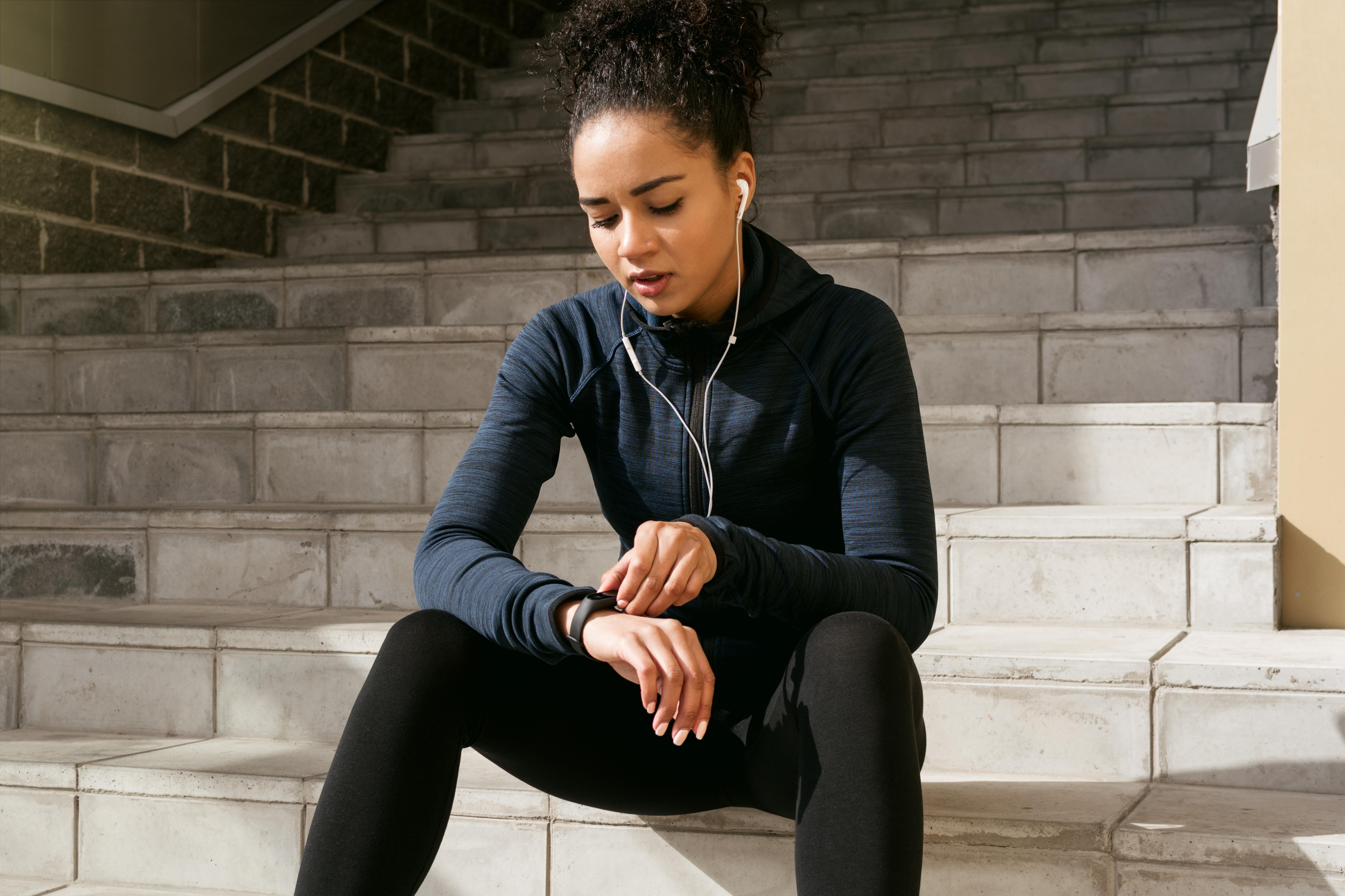 woman fitness tracker