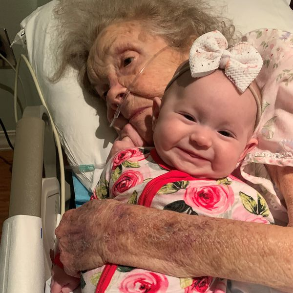 Joan Barrier and great granddaughter