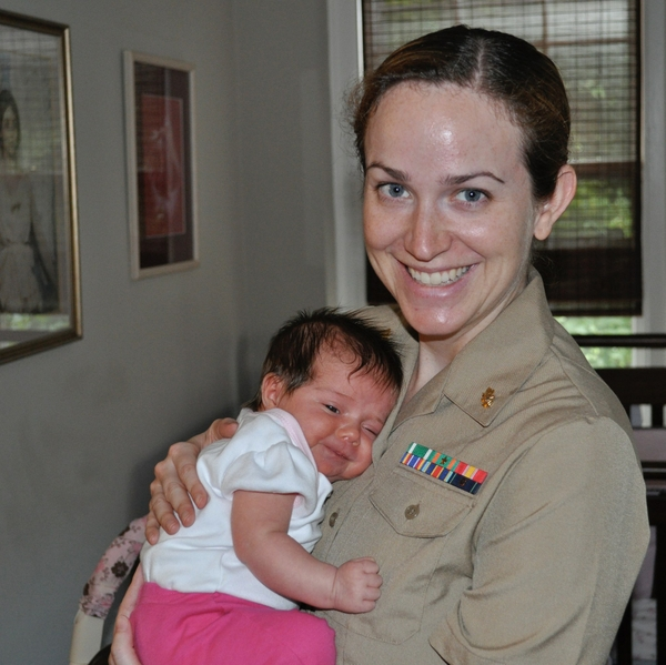 Dr. Laura Ramsay with her daughter Leah in 2010