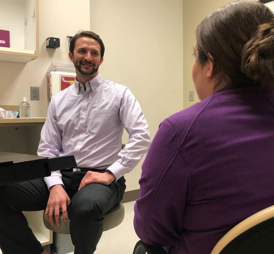 Dr. Matthew Carraro sees a patient at Novant Health Neurology & Sleep.