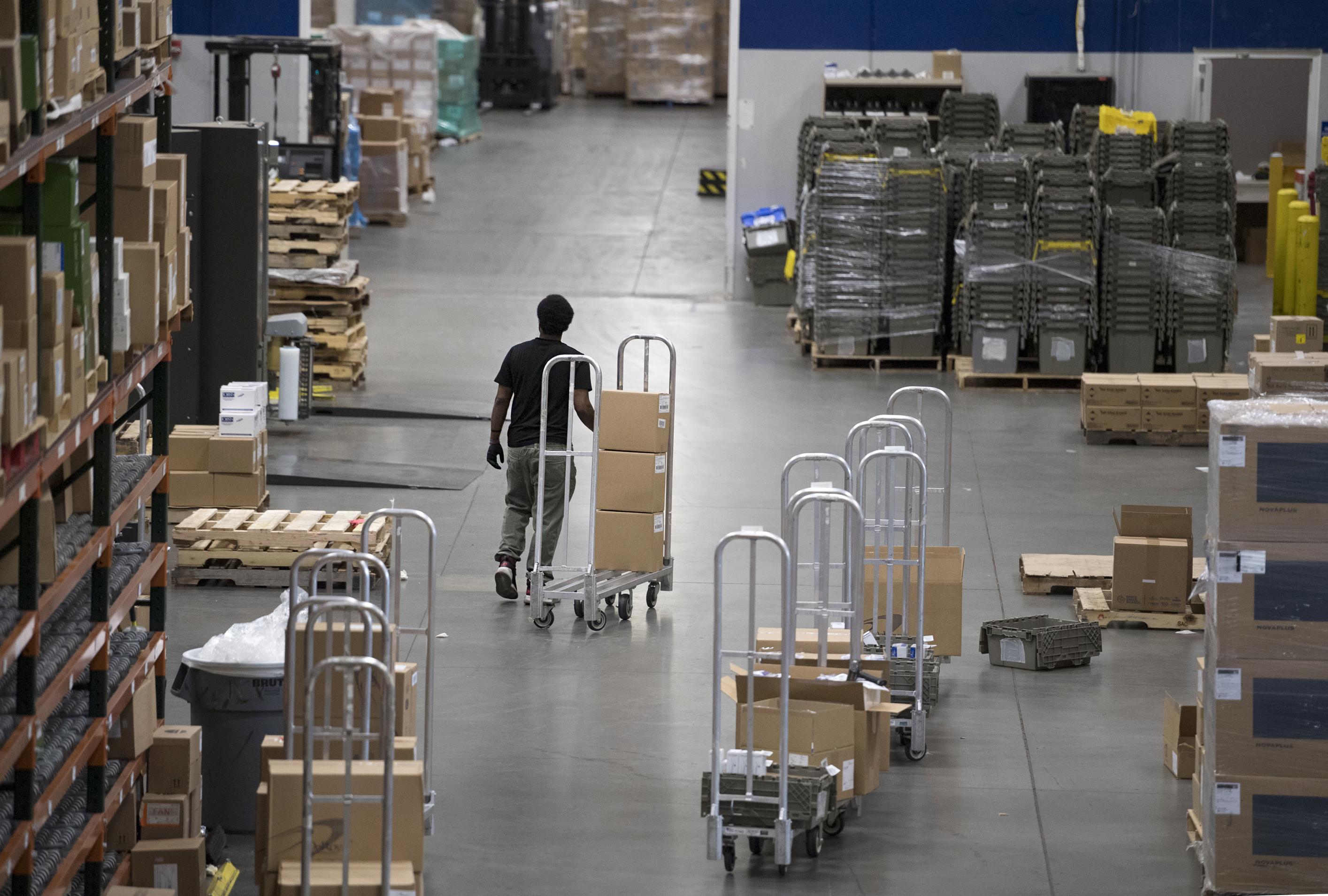 supplychain man on floor