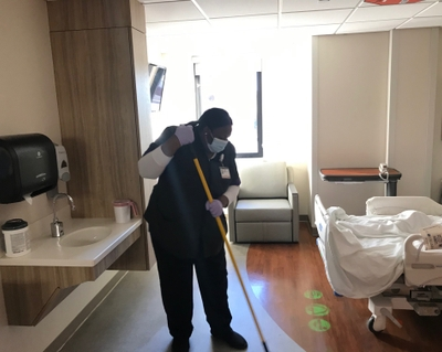 The other COVID-19 'front lines': hospital housekeeping