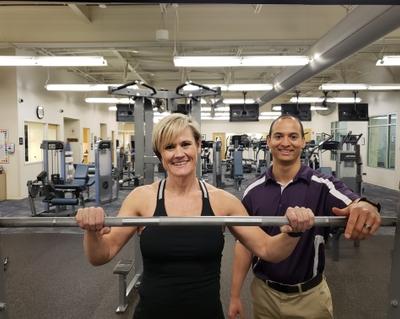 Matt Fortune helps bodybuilder Tricia Thomas reach her goals.