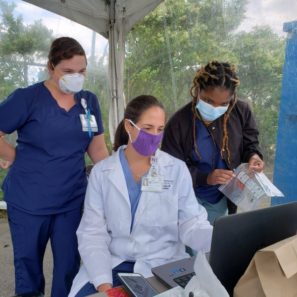 Left to right - Tara Sizemore RN Yolanda Enrich FNP Trylise Hunter CNA