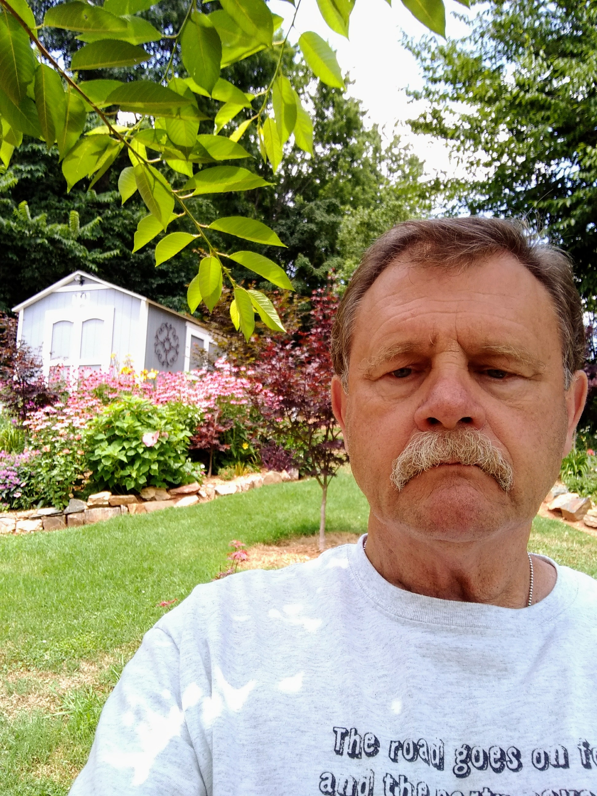 Mike Jones, 67, enjoys his garden.
