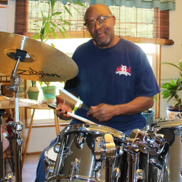 Keith Berryman drumming