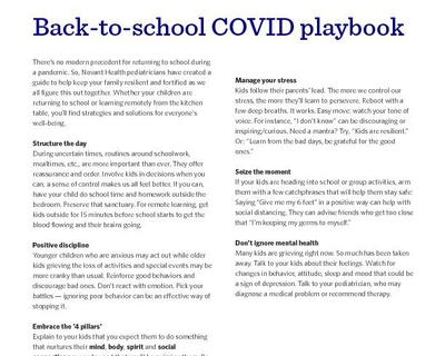 Back-to-school COVID-19 PLAYBOOK